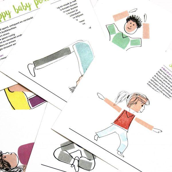 kinderyogakaarten set voor makkelijke ontspanning voor kinderen thuis
