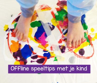 e-book voor meer kindergeluk met tips voor thuis om offline met je kind te spelen
