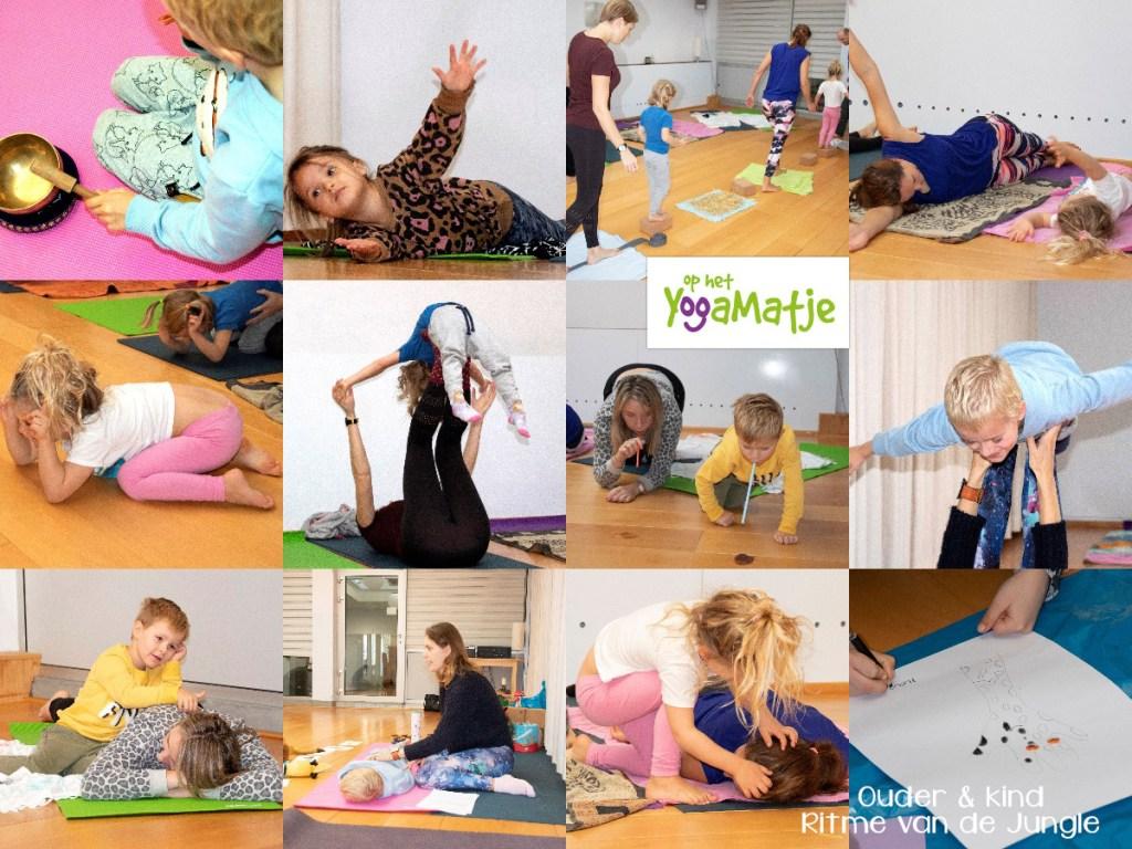 kinderyoga met je kind tijdens een ouder en kind yoga workshop met ademhalingsoefeningen, meditatie en mindfulness